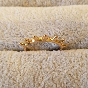 Gold spike stacking ring